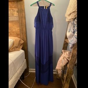 long blue dress worn a couple times